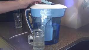 A víztisztító kancsó otthoni használata